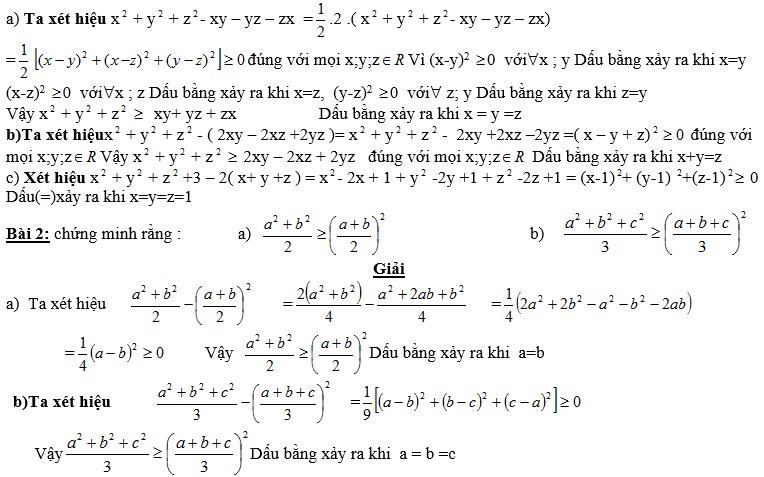 Bất đẳng thức, tìm giá trị min-max của biểu thức-1