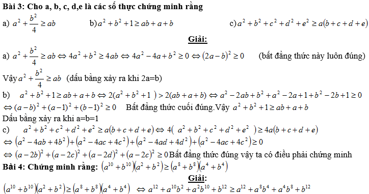 Bất đẳng thức, tìm giá trị min-max của biểu thức-2