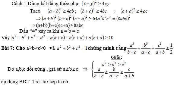 Bất đẳng thức, tìm giá trị min-max của biểu thức-4