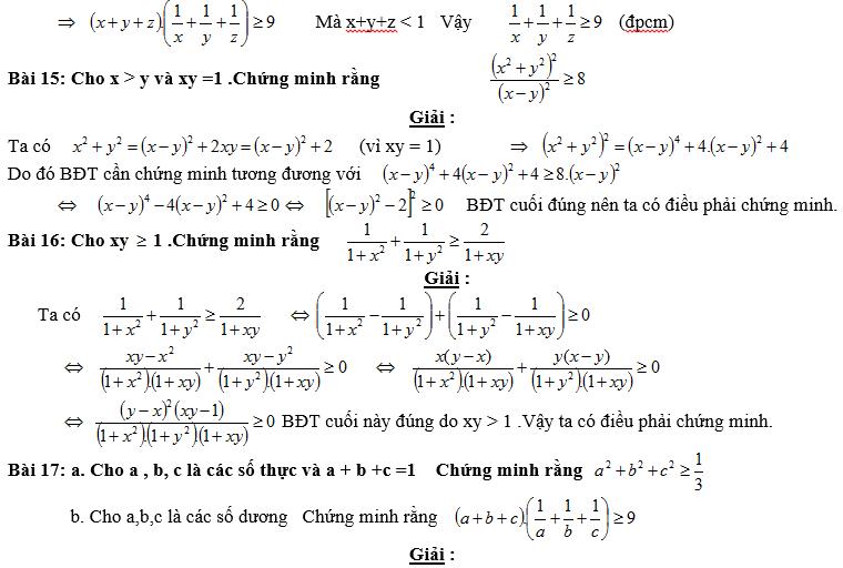Bất đẳng thức, tìm giá trị min-max của biểu thức-9