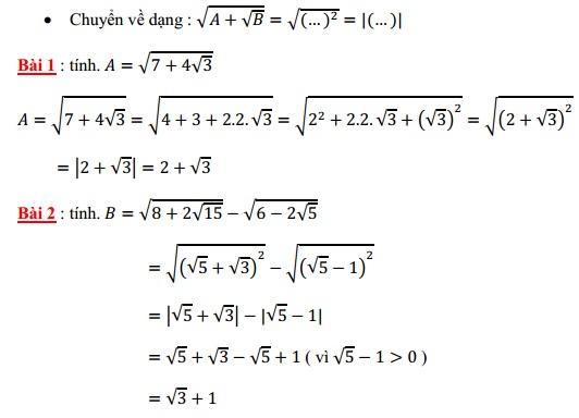 Chuyên đề căn bậc hai ôn thi vào lớp 10-3