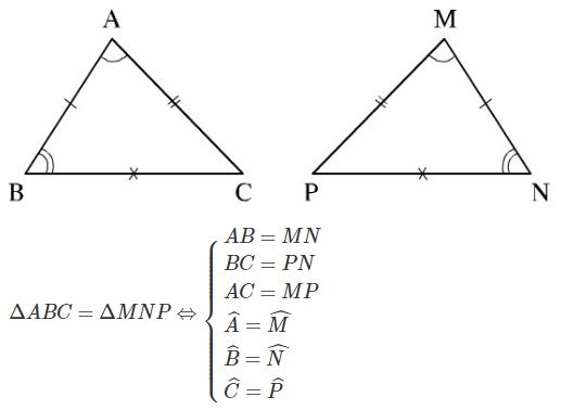 Định nghĩa hai tam giác bằng nhau-1