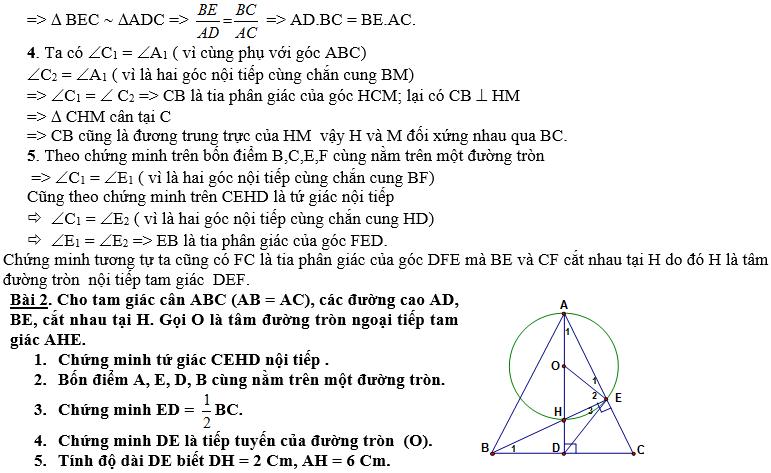 Ôn tập Hình học thi vào cấp 3 (lớp 10)-5