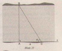 Ứng dụng thực tế các tỉ số lượng giác của góc nhọn-2