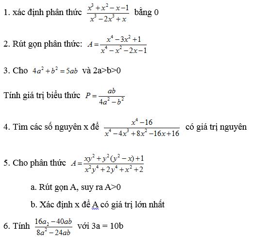 Các dạng bài tập Toán nâng cao lớp 8 tự giải-1