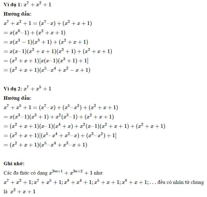 Phương pháp phân tích đa thức thành nhân tử - Toán 8-2.3