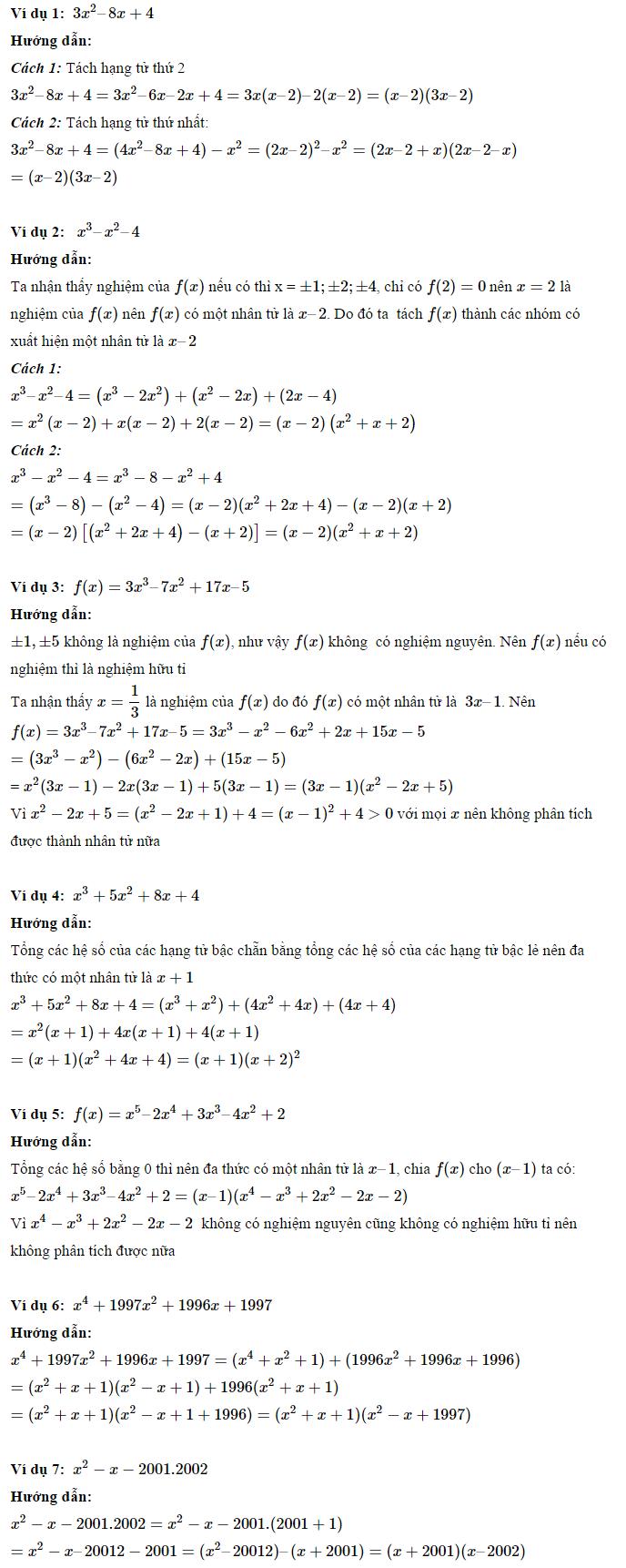 Phương pháp phân tích đa thức thành nhân tử - Toán 8-2