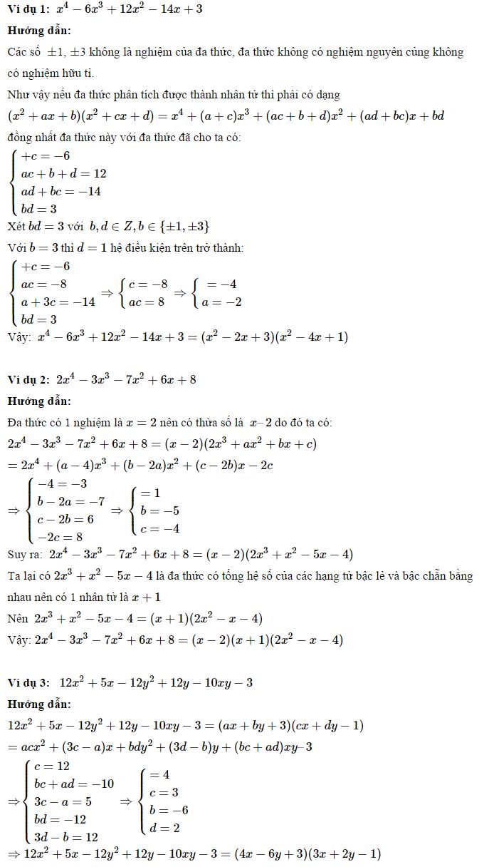 Phương pháp phân tích đa thức thành nhân tử - Toán 8-4