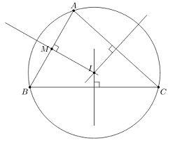 Cách xác định tâm đường tròn nội tiếp, ngoại tiếp tam giác-2