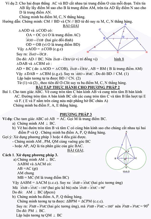 Phương pháp chứng minh 3 điểm thẳng hàng-3
