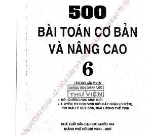 Ebook 500 bài toán cơ bản và nâng cao 6