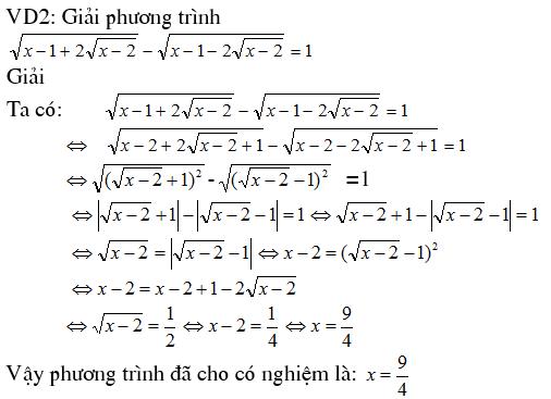 4 phương pháp giải phương trình vô tỷ - Toán cấp 2-2