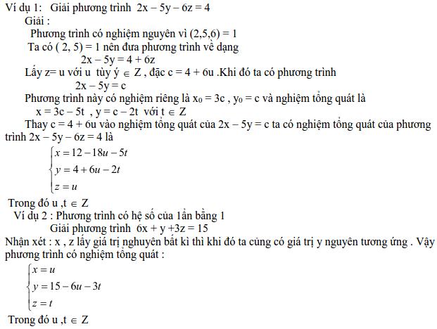 Các dạng phương trình nghiệm nguyên và cách giải-1