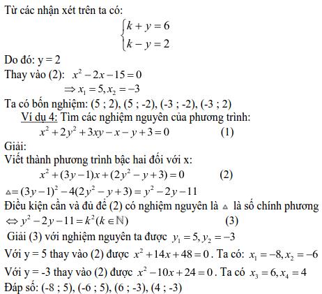 Các dạng phương trình nghiệm nguyên và cách giải-3