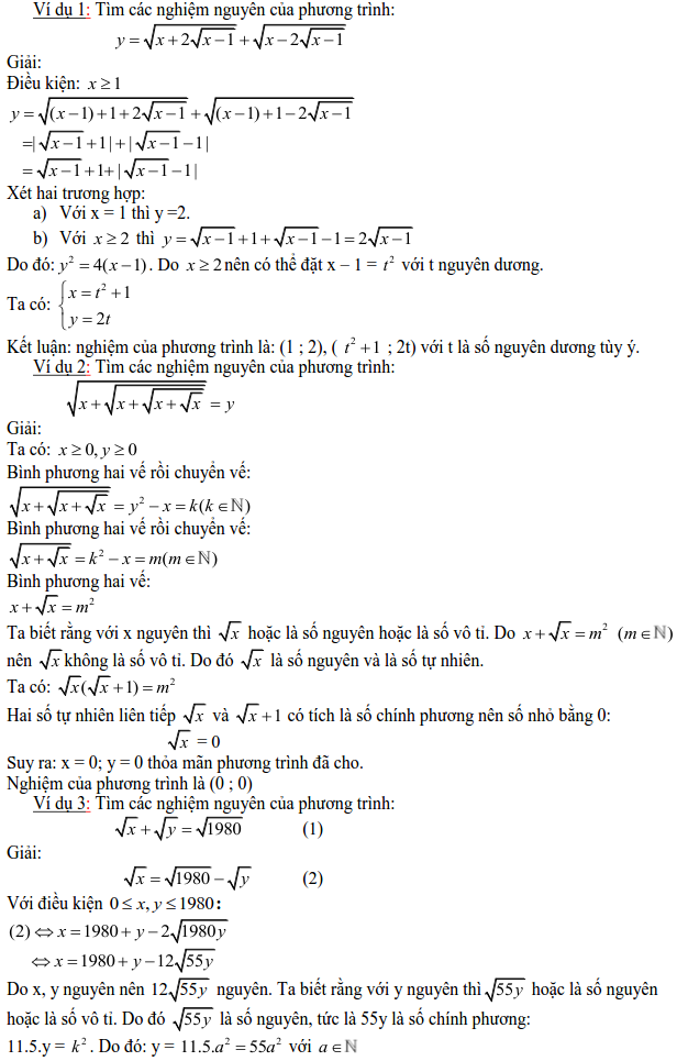 Các dạng phương trình nghiệm nguyên và cách giải-4
