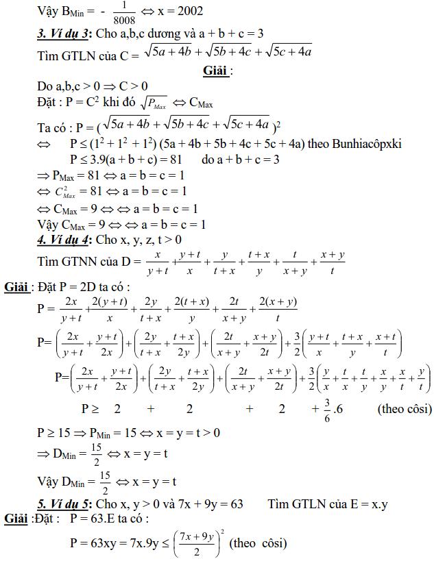 Sử dụng biểu thức phụ để tìm để tìm GTLN, GTNN-1