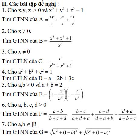 Sử dụng biểu thức phụ để tìm để tìm GTLN, GTNN-3