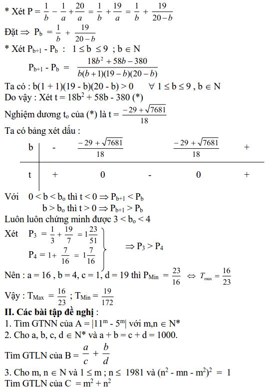 Sử dụng phương pháp xét từng khoảng giá trị để tìm GTLN, GTNN-2