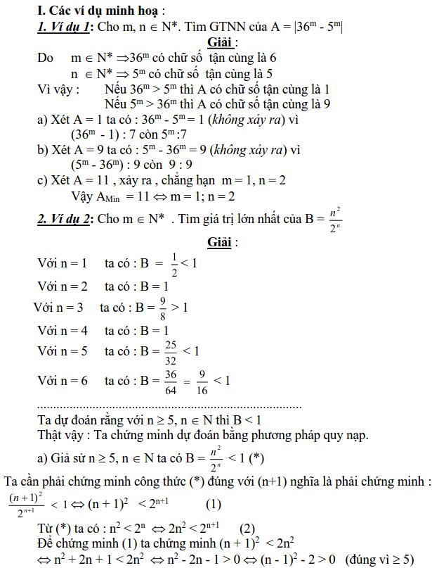 Sử dụng phương pháp xét từng khoảng giá trị để tìm GTLN, GTNN