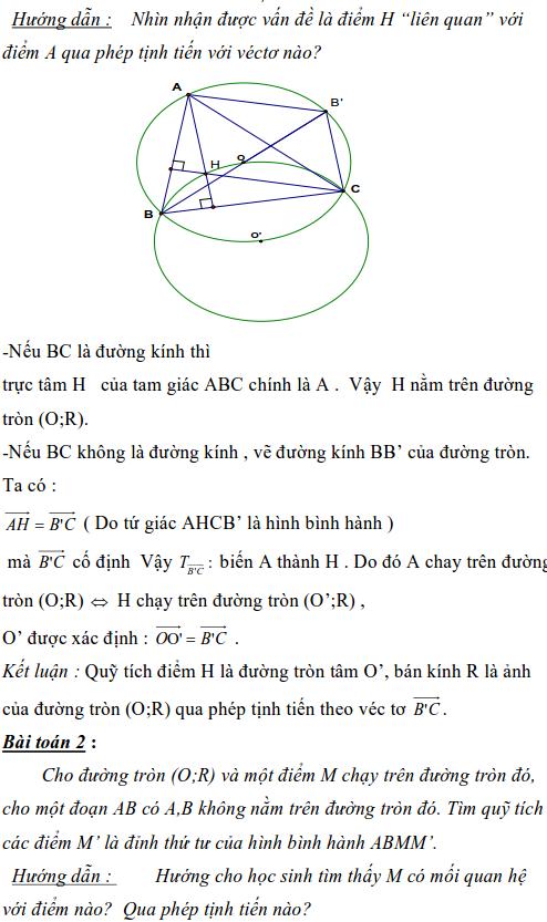 Ứng dụng phép biến hình để giải bài toán quỹ tích-1