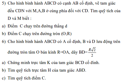 Ứng dụng phép biến hình để giải bài toán quỹ tích-3