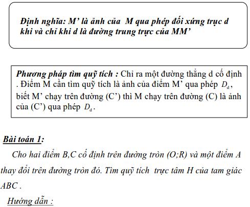 Ứng dụng phép biến hình để giải bài toán quỹ tích-4