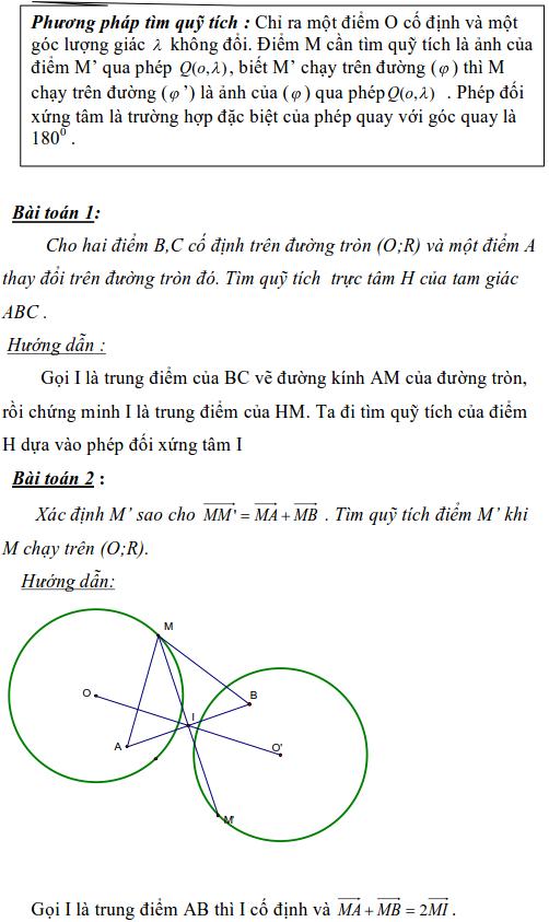 Ứng dụng phép biến hình để giải bài toán quỹ tích-7