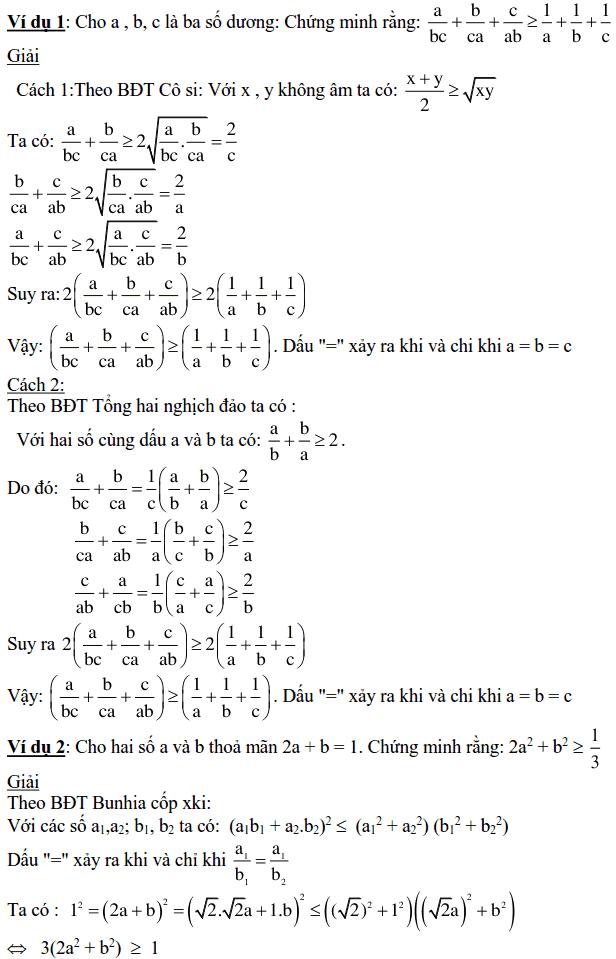 Áp dụng bất đẳng thức để chứng minh bất đẳng thức-1
