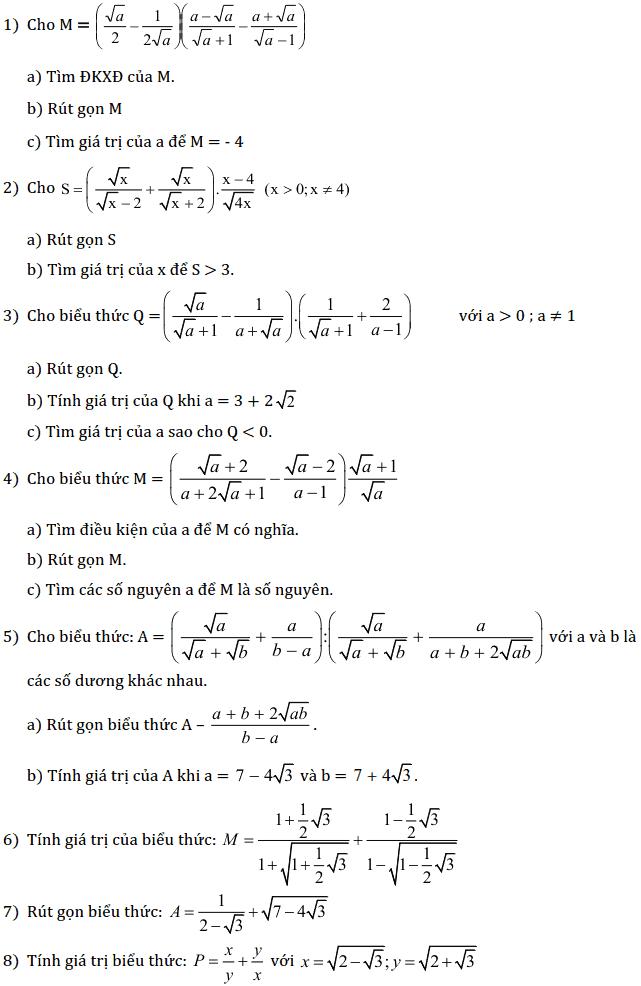 Chủ đề 1: Căn bậc 2 - Căn bậc 3 - Phần Đại số-4