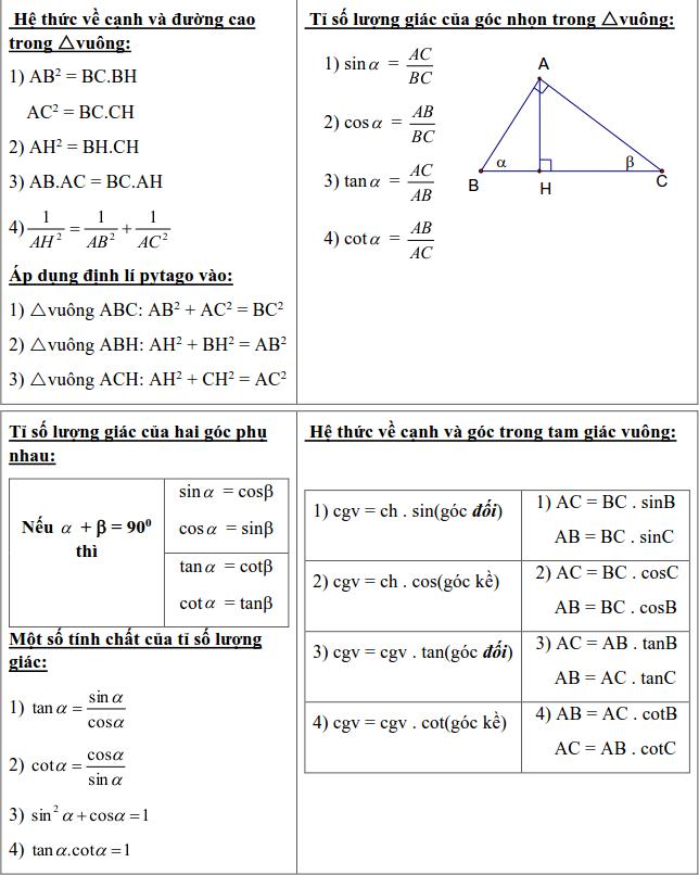 Chủ đề 1: Tam giác - Phần Hình học-1