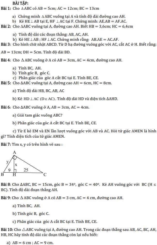 Chủ đề 1: Tam giác - Phần Hình học-2