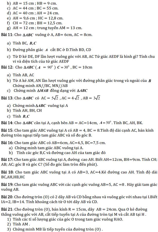 Chủ đề 1: Tam giác - Phần Hình học-3