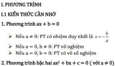 Chủ đề 3: Phương trình và Hệ phương trình - Phần Đại số-1