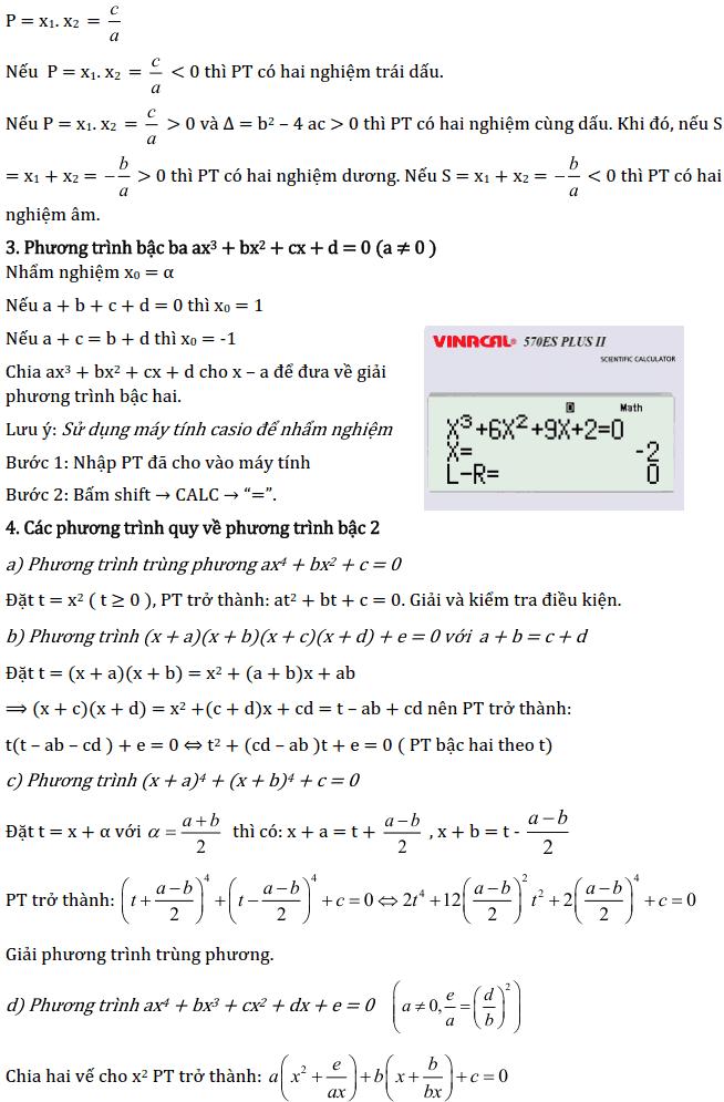 Chủ đề 3: Phương trình và Hệ phương trình - Phần Đại số-3