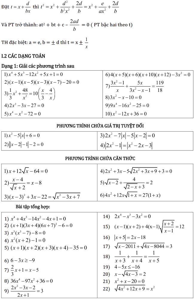 Chủ đề 3: Phương trình và Hệ phương trình - Phần Đại số-4