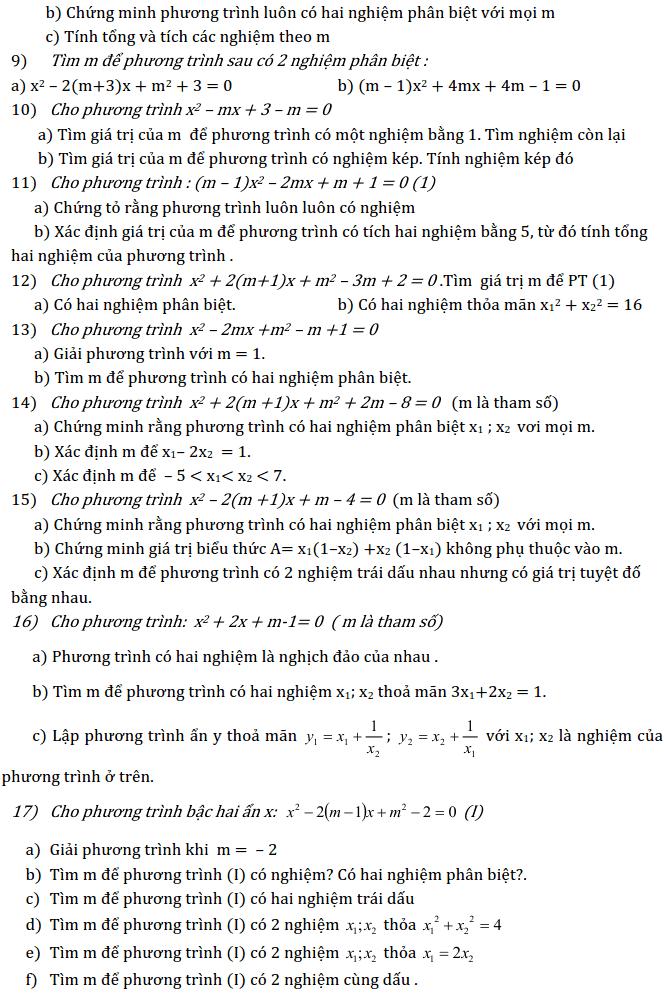 Chủ đề 3: Phương trình và Hệ phương trình - Phần Đại số-6