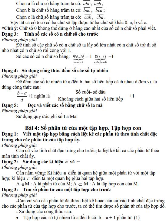 Chương 1: Ôn tập và bổ túc về số tự nhiên-1