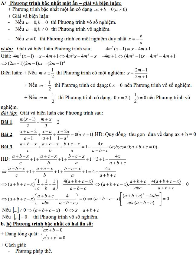Dạng 3: Phương trình và hệ phương trình-1