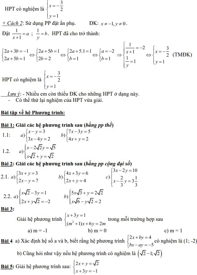 Dạng 3: Phương trình và hệ phương trình-3