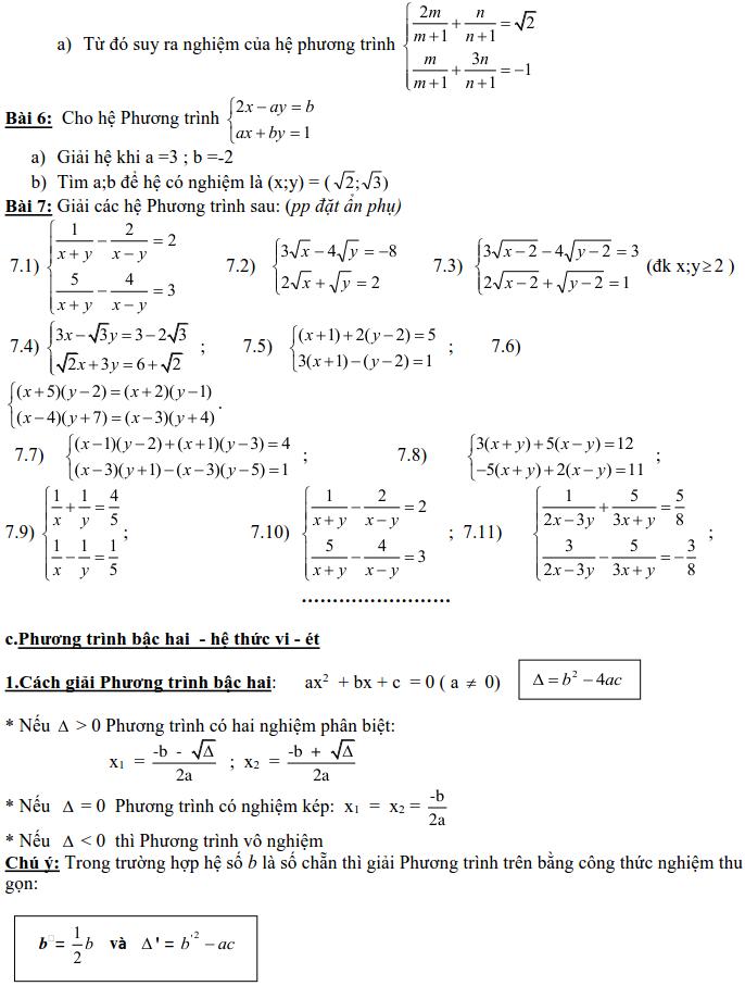 Dạng 3: Phương trình và hệ phương trình-4