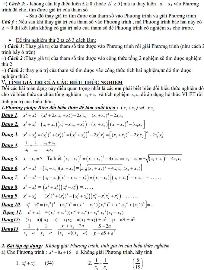 Dạng 3: Phương trình và hệ phương trình-8