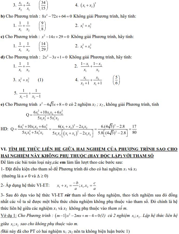 Dạng 3: Phương trình và hệ phương trình-9