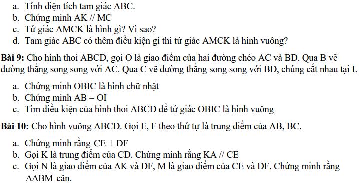 Đề cương ôn tập HK1 Toán 8 THCS Quỳnh Mai - Hà Nội-3