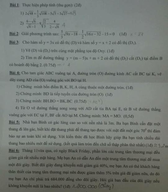 Đề kiểm tra học kì 1 môn Toán 9 quận Tân Bình năm học 2017 - 2018-1