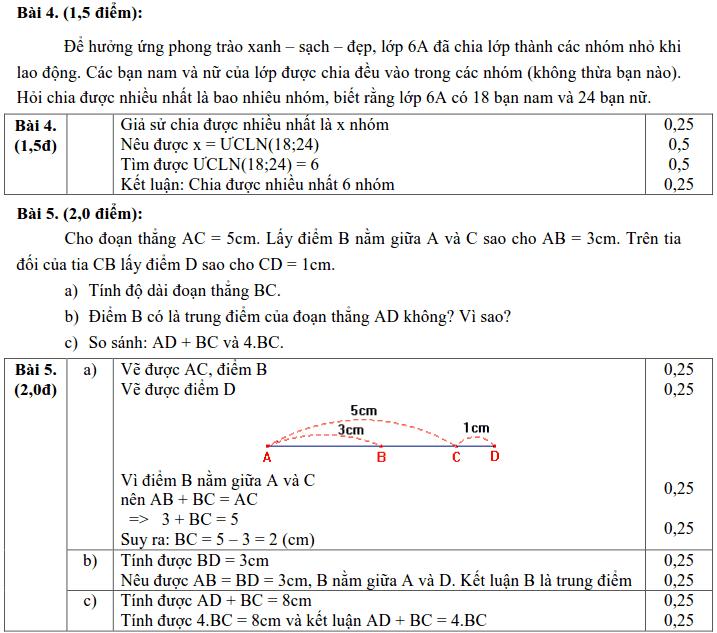 Đề kiểm tra Toán 6 HK1 huyện Xuyên Mộc năm 2017 – 2018-2