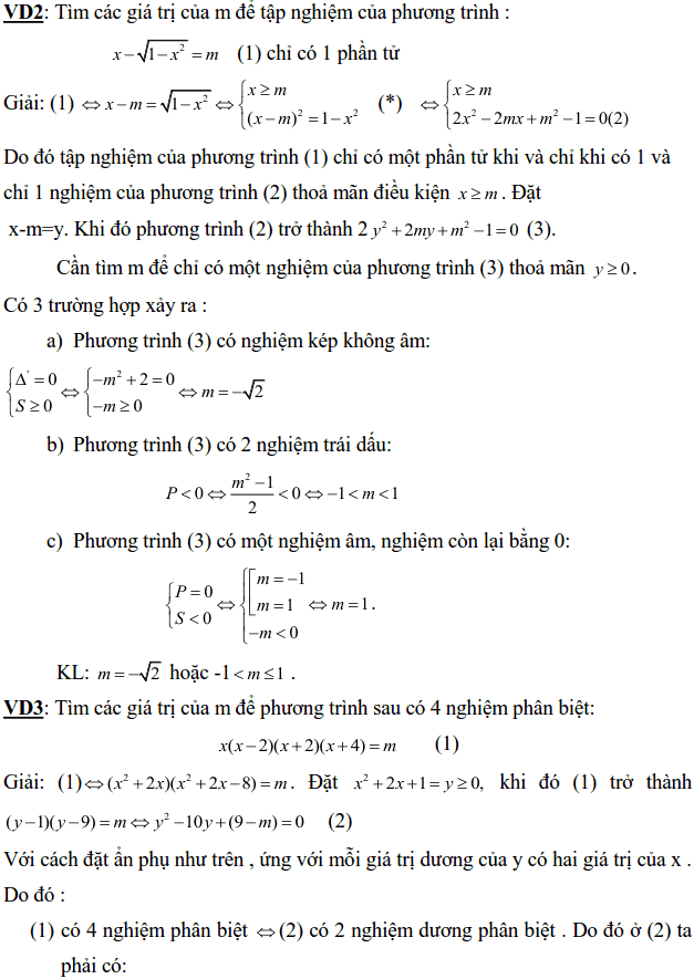 Điều kiện về nghiệm của phương trình bậc hai-4