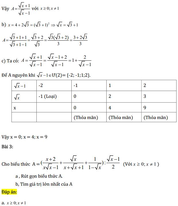 Một số bài tập điển hình ôn thi học kì Toán 9 có đáp án-1