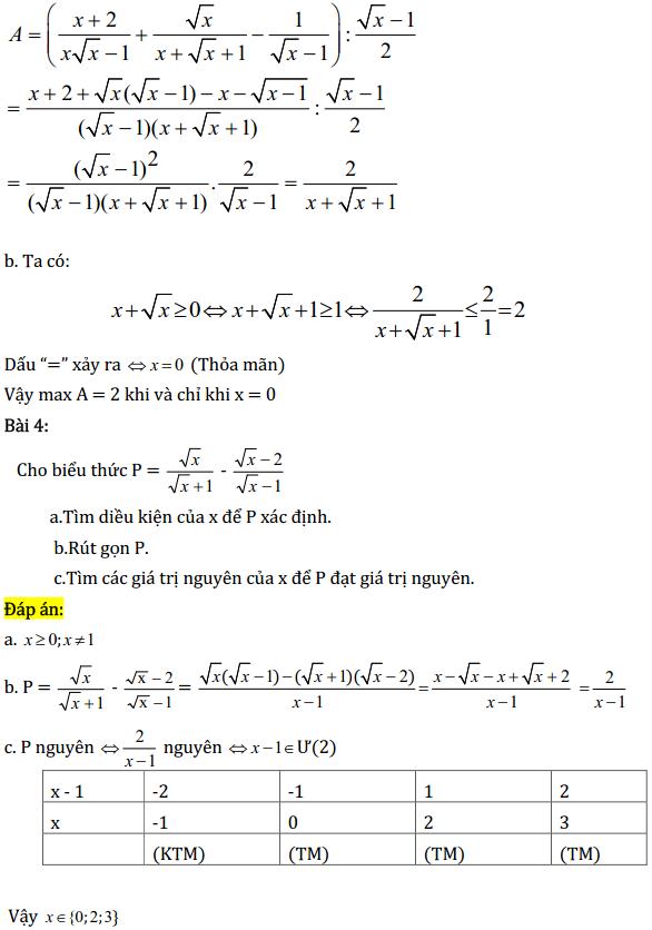 Một số bài tập điển hình ôn thi học kì Toán 9 có đáp án-2