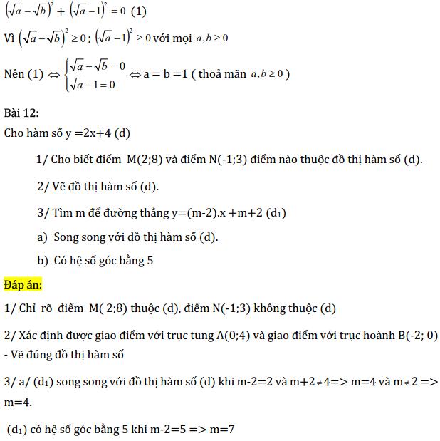 Một số bài tập điển hình ôn thi học kì Toán 9 có đáp án-8