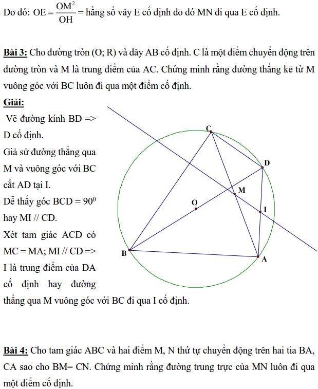 Ôn tập: Chứng minh đường thẳng đi qua điểm cố định-3